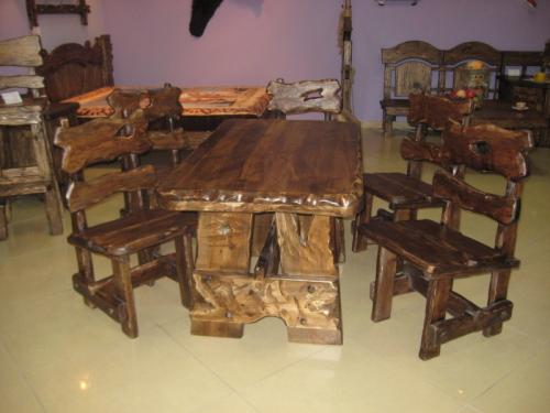Мебель под старину - стол и стул Сварог