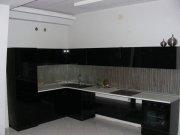 Кухня стеклянные фасады и встроеный холодильник МДК-92 Кухни на заказ Крым, Симферополь, Севастополь, Ялта, ЮБК, Алушта, Судак, Коктебель, Феодосия