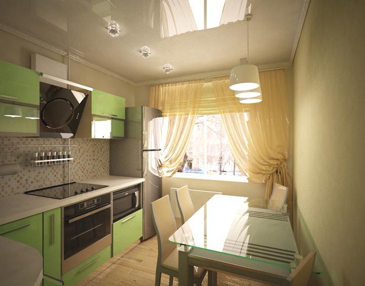 Дизайн кухни на 9кв м