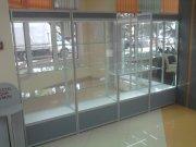 Торговые витрины из алюминевого профиля и стекла МТАа-34 Торговая мебель на заказ Киев, Суммы, Львов, Чернигов, Полтава, Кременчуг, Житомер