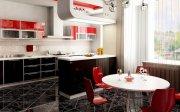 Черно красные кухни  с глянцевыми фасадами МДКа-103 Украина, Киев, Полтава, Черкассы,