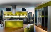 В современную квартиру современную кухню