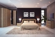 Стильная мебель в спальню для молодой пары
