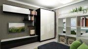 Современные стенки в гостиную со шкафом - купе